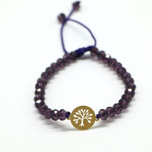 دستبند طلا طرح درخت