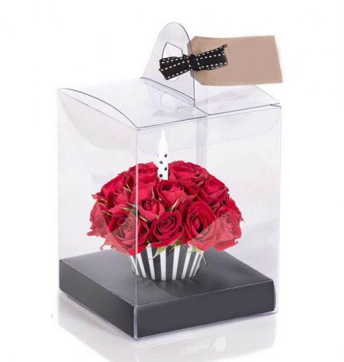جعبه گل کاپ کیکی
