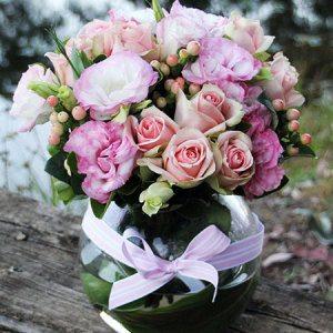 گل های صورتی