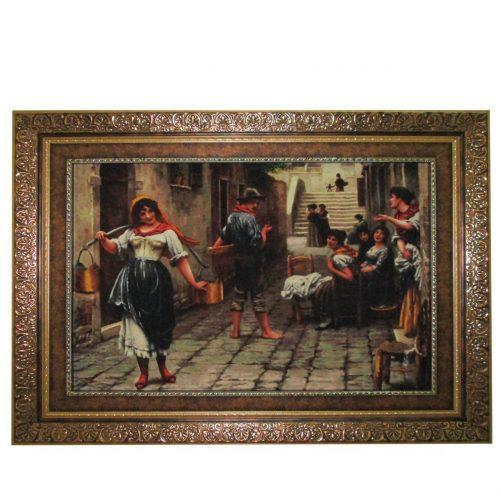 تابلو فرش دختر روستا