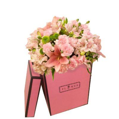 باکس گل های صورتی